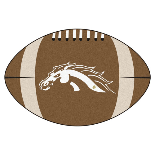 manta fútbol fanmats occidental michigan 22 -inch-inch x35