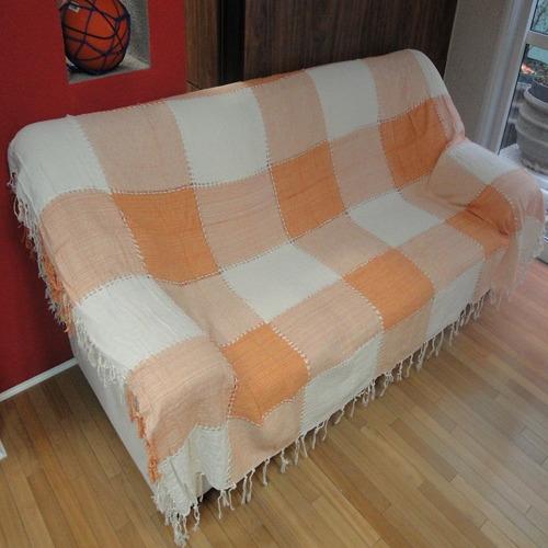 manta gigante de sofá capa de cama em algodão 2,50 x 2,10 m