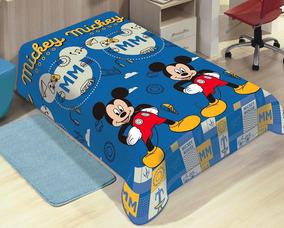 49dd2d38a3 Cobertor Manta De Microfibra Solteiro Mickey - Todo para o seu Quarto no  Mercado Livre Brasil