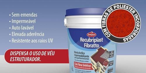 manta líquida impermeabilizante  recubriplast 3,6kg - 04 uni