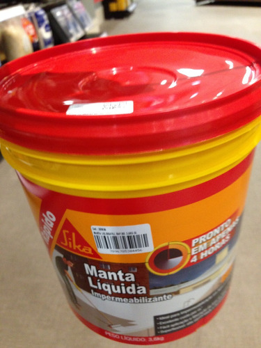 manta liquida sikafill sika 3,6kg branco galao