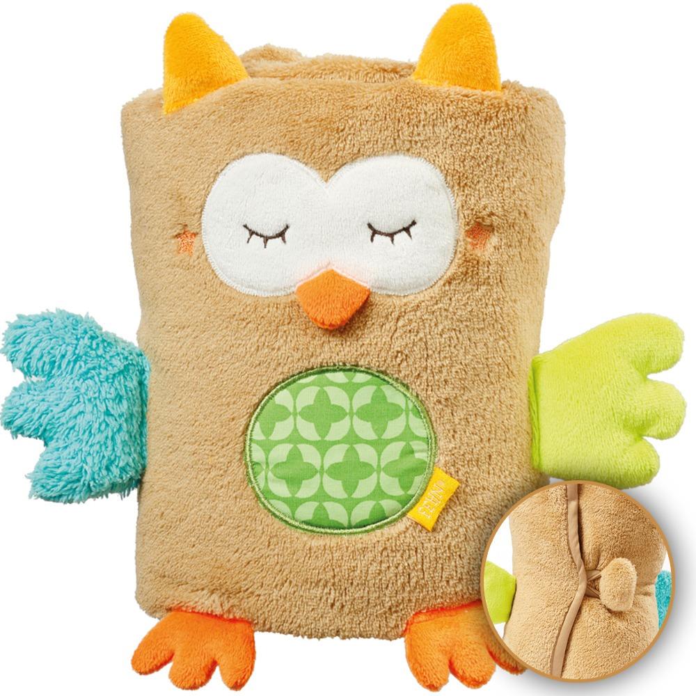 manta mantinha para bebe desenho coruja multikids baby fofa