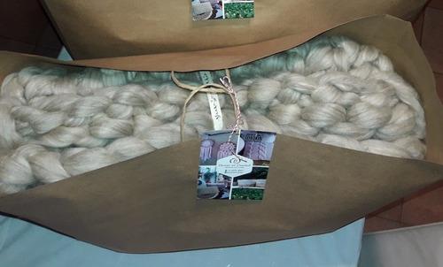 manta nórdica,tejidos xxl, vellón de lana envio gratis