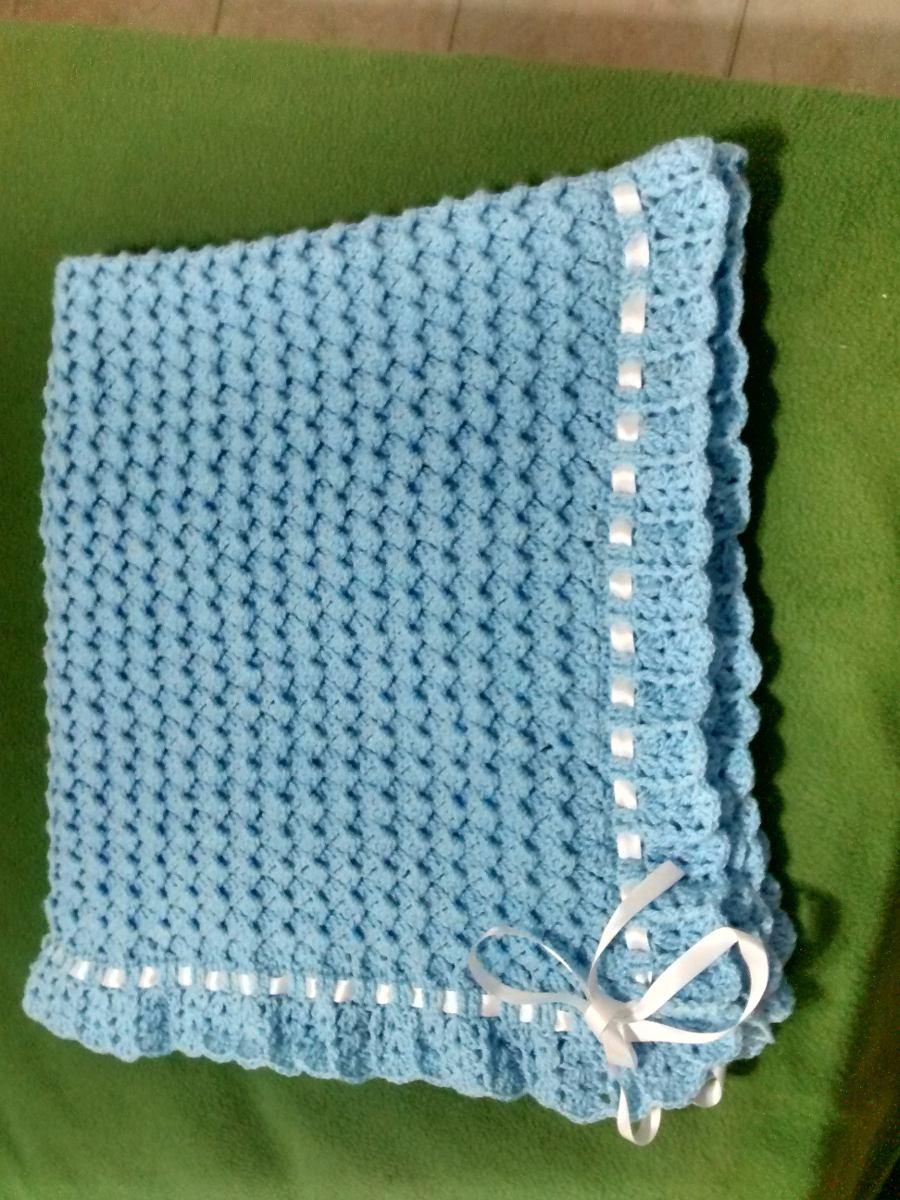 Manta Para Bebes Al Crochet - $ 790,00 en Mercado Libre