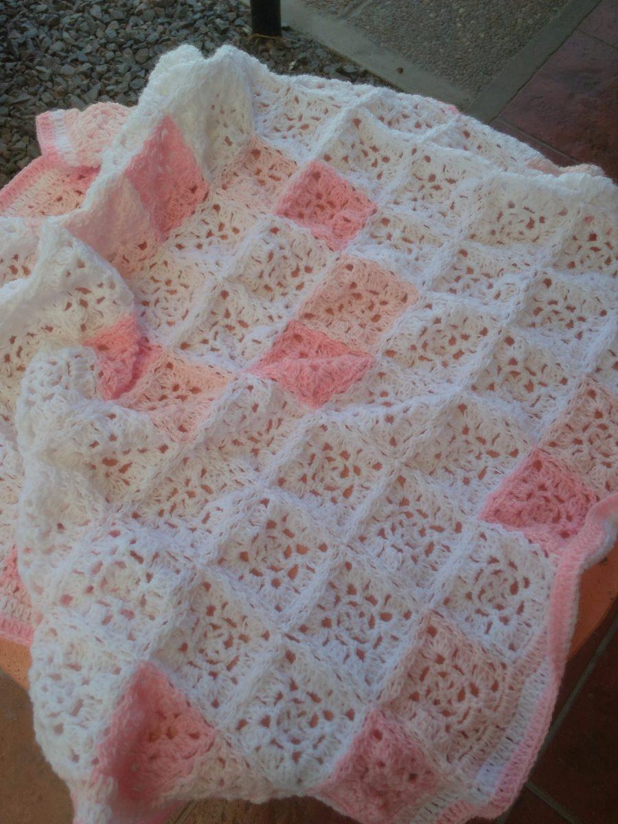 Manta Para Bebes Tejidas A Crochet - $ 400,00 en Mercado Libre