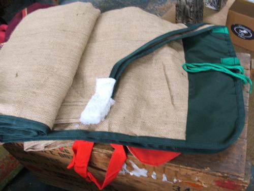 manta para caballos doble arpillera/ yute con refuerzo