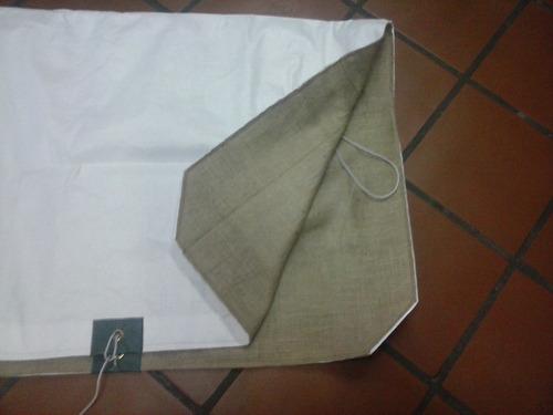 manta para caballos (rafia y arpillera)