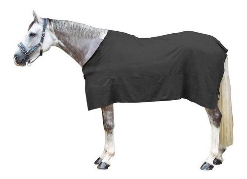 manta para secar caballo equitación gris