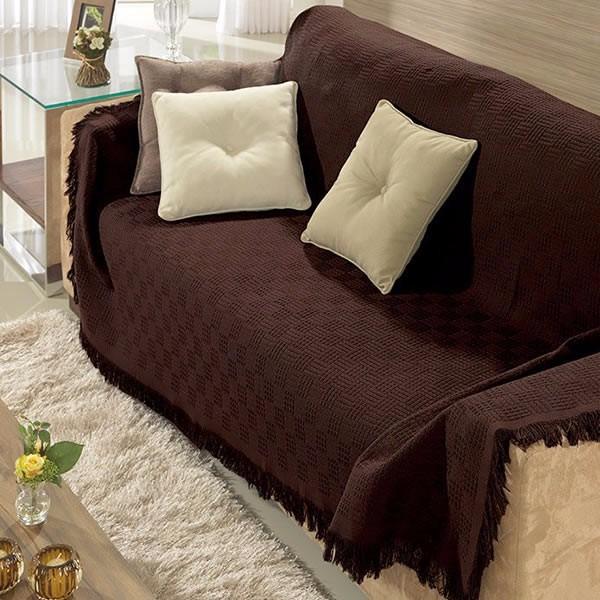 Manta para sof dohler london 1 60x2 20m algod o marrom for Mantas para sofas