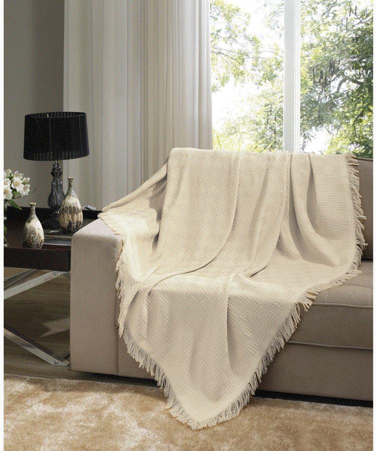 Manta para sof dohler london 1 60x2 20m bege claro r - Manta para sofa ...
