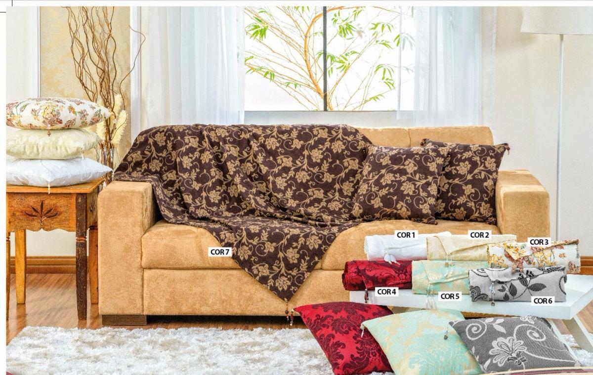 Jogo de xale manta para sof jacquard com pedrarias 5 pe as r 74 89 em mercado livre - Manta para sofa ...