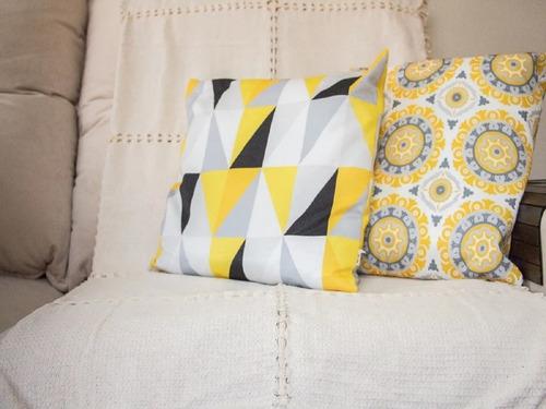 manta para sofá bainha aberta 1,50m x 1,50m  algodão premium