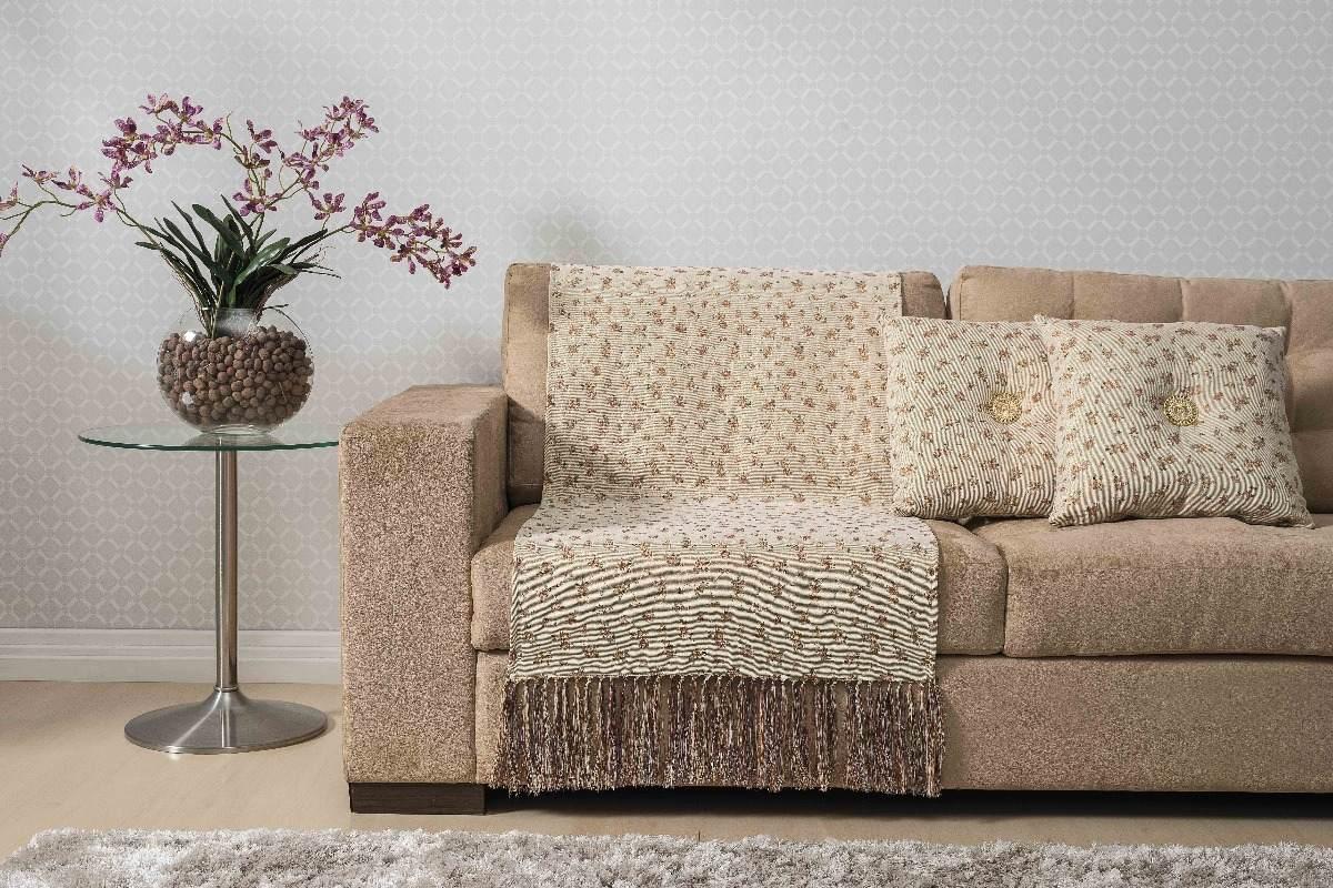 Manta para sof bege estampada 03 pe as almofada decorativa r 189 99 em mercado livre - Manta para sofa ...
