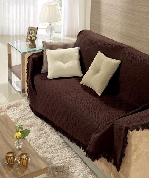 Manta para sof marron dohler london 1 60x2 20m 100 for Manta no sofa como usar
