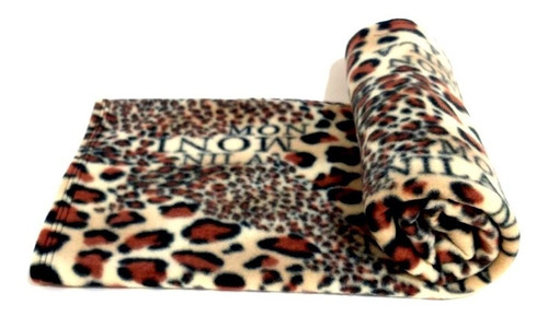 manta pet cobertor em soft onça tamanho g para cães e gatos