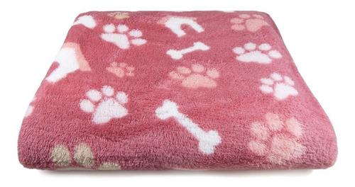 manta pet p/ cachorro e gato microfibra - panosul-pata rosa