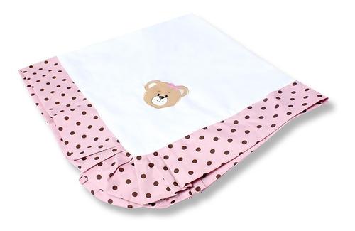 manta piquet mimos rosa