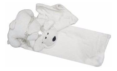 manta polar de microfibra para niños con muñeco de perro