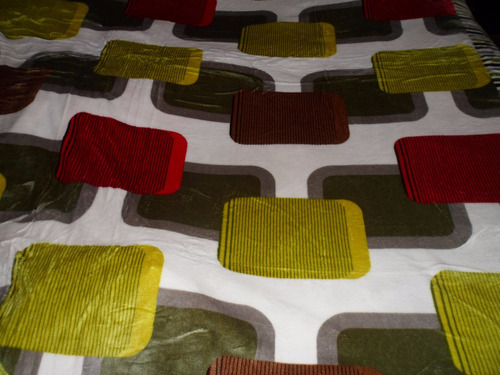 manta polar/chenil 2 plazas !!! liviana abrigada tonos verde
