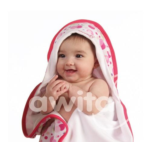 manta recibidora c/capucha de algodón wawita original !!