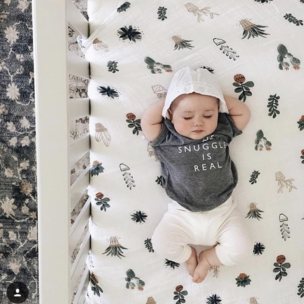 Manta de algod/ón suave para beb/é dise/ño de jirafa mimxiong color gris