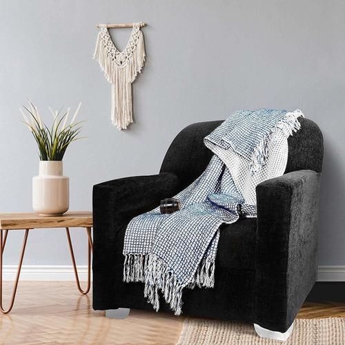 manta reversible de tiro de gofre para sofá cama sofá...