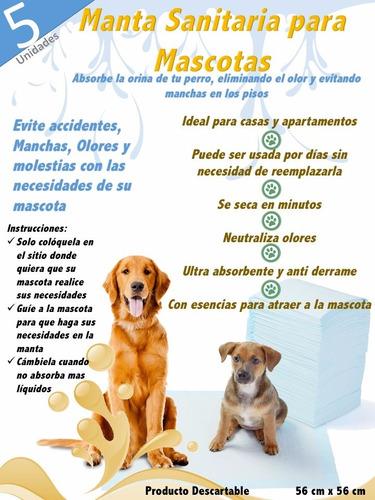 manta sanitaria para mascotas perros adultos y cachorros