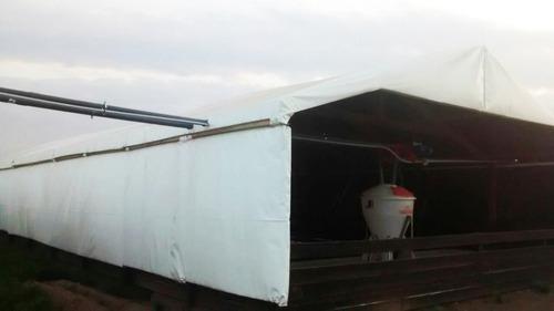 manta silo bolsa blanco y negro 12 mts x 31 mts gigante