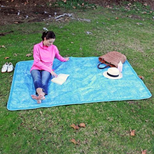 manta tapete lona de acampar playa lightspeed impermeable