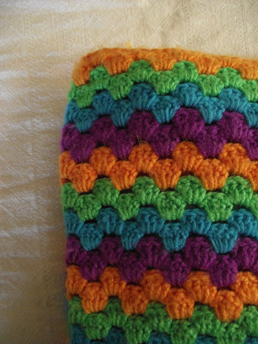 Manta tejida a crochet en mercado libre - Manta de crochet facil ...