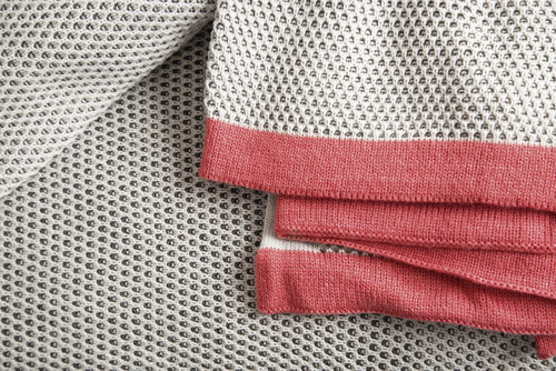 manta tejida palette combinada sillones o pie de cama  net