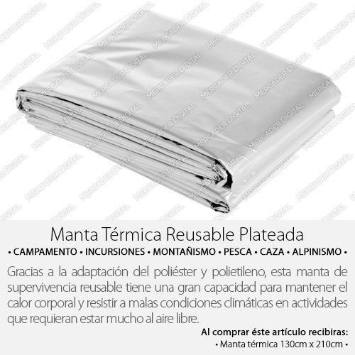 manta térmica 130cm x 210cm supervivencia sabana emergencia