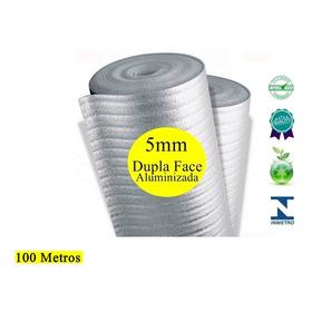 Manta Termica De Telhado 5mm 100 Metros 2 Face Aluminio Pro