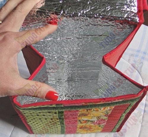 manta térmica metalizada etaflon 2mm patchwork - 5 metros
