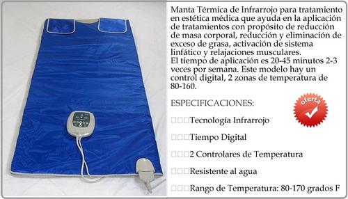 manta térmica para tratamientos corporales en estética.