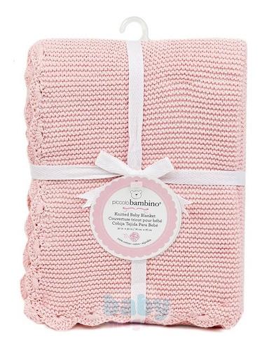 manta tricot rosa - bup baby
