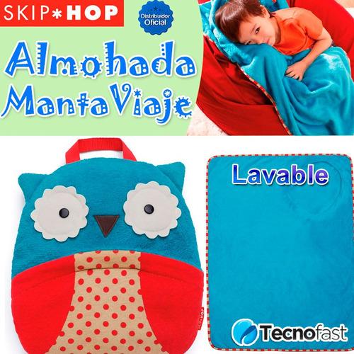 manta viaje  línea zoo almohada para bebés y niños skip hop