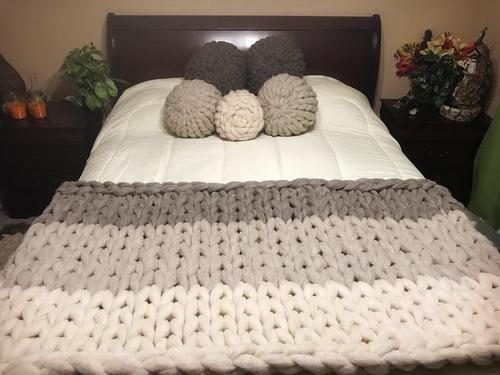 manta xxl / piecera 1,5 plazas, 140 x 80 cm, lana 100% oveja