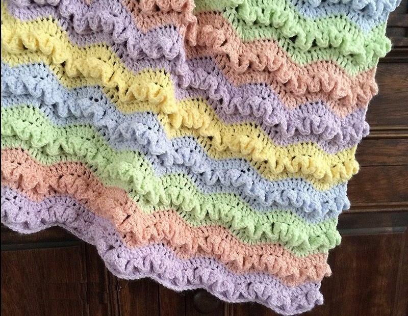 Manta Zigzag De Colores Para Bebé A Crochet - $ 900,00 en Mercado Libre