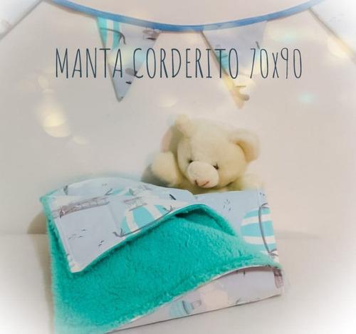 manta03- manta bebe recibidora con guirnalda banderin