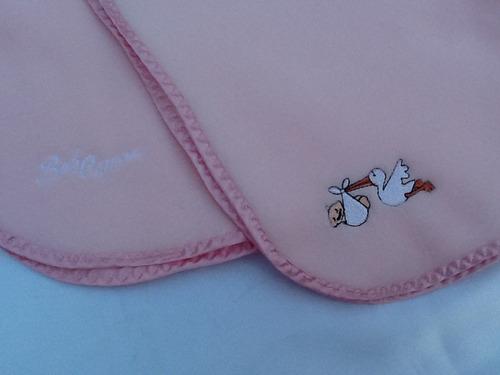 manta/frazada de polar para bebé rosa/celeste