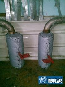 mantas aislantes de vapor para alta temperatura