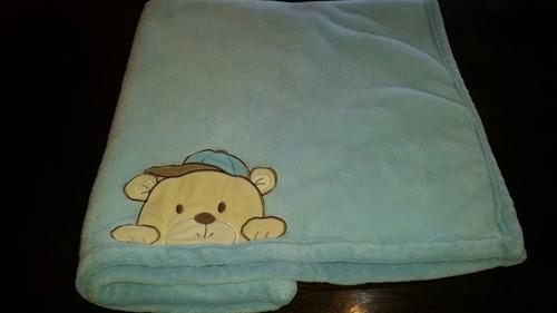 mantas bebe varon frazadas polar como nuevas lote de 5