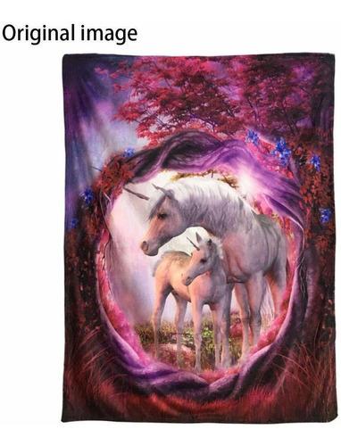 mantas fleece manta manta para sofá cama unicornio cab...