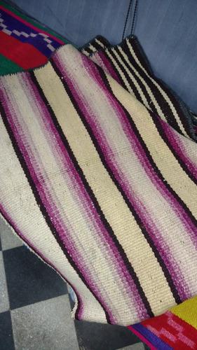 mantas norteñas tejidas a mano en lana de oveja