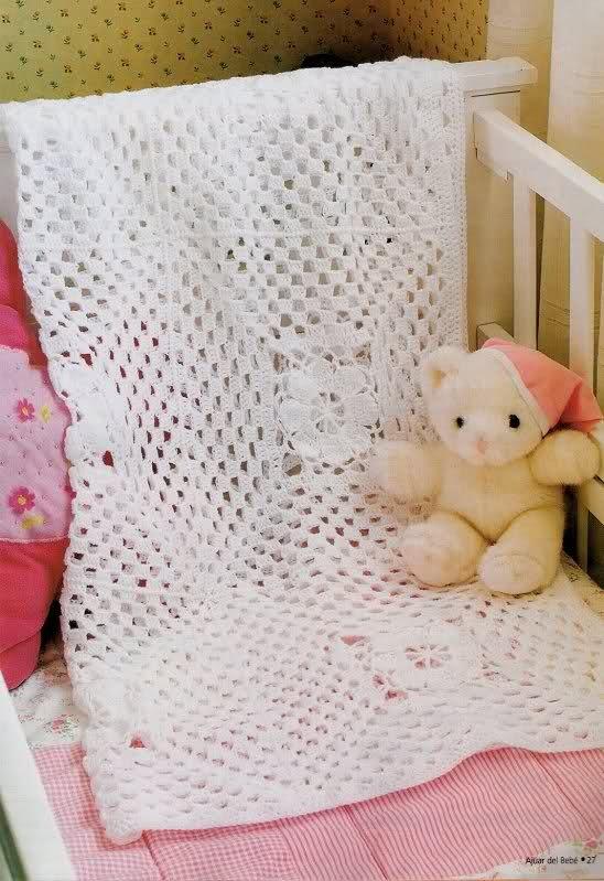 Mantas Para Bebes Tejidas A Mano En Crochet - $ 790,00 en Mercado Libre
