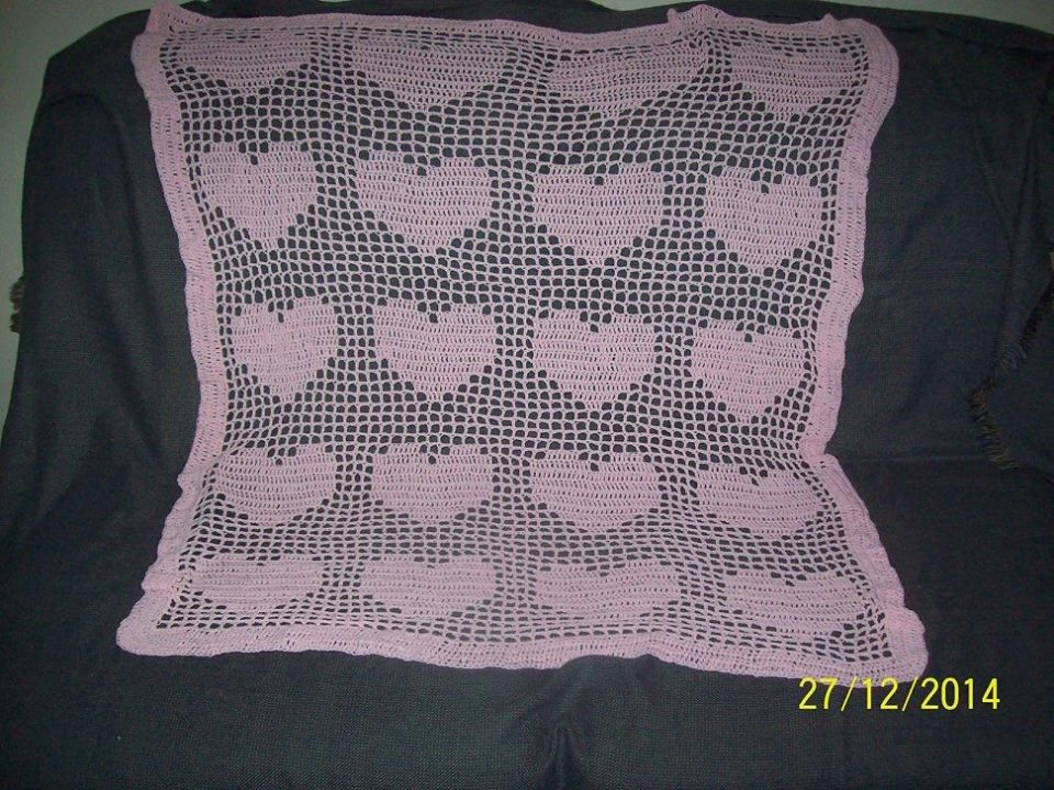 Mantas Tejidas A Crochet Para Bebes - $ 700,00 en Mercado Libre