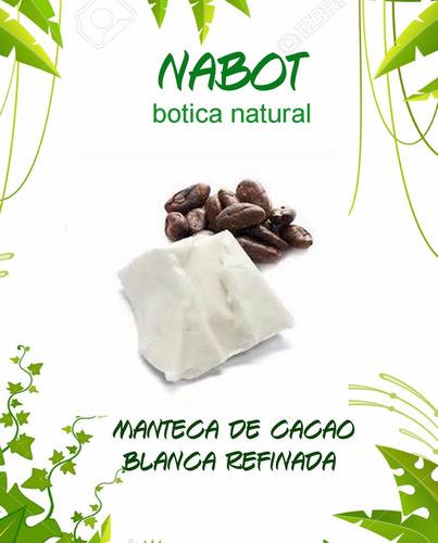 manteca de cacao blanca refinada 1 libra uso cosmetico