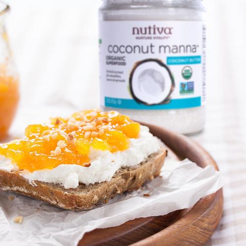 manteca de coco orgánica manna - nutiva - 425ml - vegano -