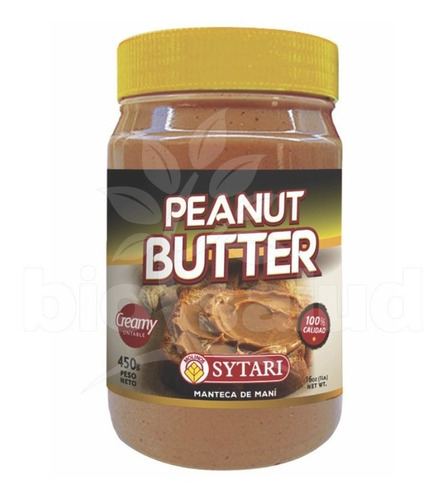 manteca de mani dulce - peanut butter 450g sabores andinos